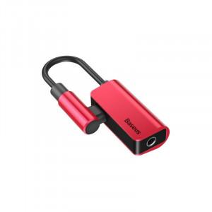 Adaptor Audio Baseus L45 USB-C la Mini Jack 3.5mm i USB-C (rosu)