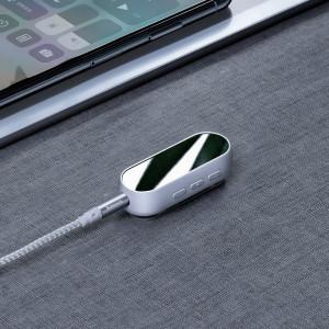 Adaptor Bluetooth 5.0 Baseus BA02 AUX, mini jack 3,5mm (alb)