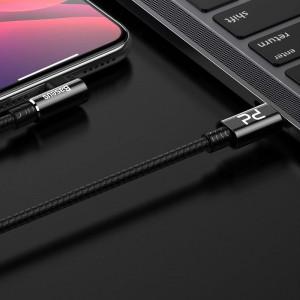 Cablu 90 grade USB-C - Lightning PD Baseus MVP Elbow, 18W, 2m (negru)