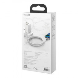 Cablu USB la USB-C Baseus Display, 5A, 40W, 1m (alb)