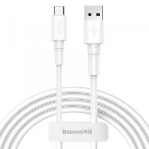Cablu USB la USB-C Baseus Mini 3A 1m (alb)