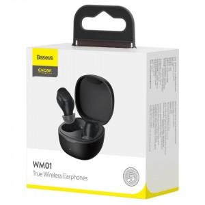 Casti wireless Baseus Encok WM01, Bluetooth 5.0 (negru)
