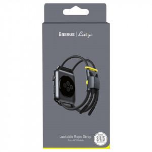 Curea Baseus Let's Go pt Apple Watch 3/4/5 38 mm / 40 mm (gri-galben)