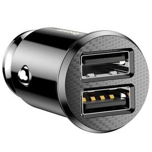 Incarcator auto Baseus Grain 2x USB 5V 3.1A (negru)