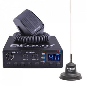 Kit statie radio CB Storm Defender *PRO-version* + Antena radio Avanti Carera