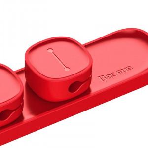 Organizator cabluri Baseus Peas, magnetic (rosu)