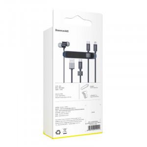 Organizator cabluri cu adeziv Baseus Kaka Fixer Kit cu benzi Velcro (albastru)