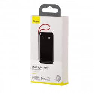 Powerbank Baseus Mini S cu cablu Lightning, 10000mAh, 3A, 15W (negru)