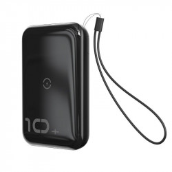 Powerbank Baseus Mini S cu incarcare wireless, 10000mAh, 18W, USB (negru)