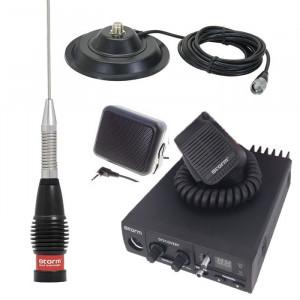 Promotie statie radio CB Storm Discovery + antena Storm ML 145 Black + baza 145 + difuzor DF1