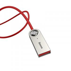 Adaptor Audio Bluetooth 5.0 Baseus USB, AUX (rosu)