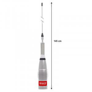 Antena Radio CB Storm ML 145 Turbo Silver
