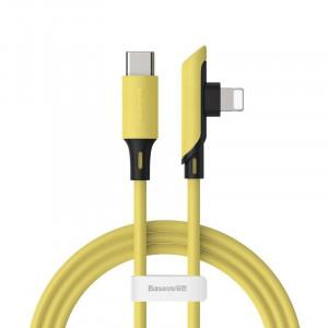 Cablu 90 grade USB-C - Lightning Baseus Colourful, PD, 18W, 1.2m (galben)