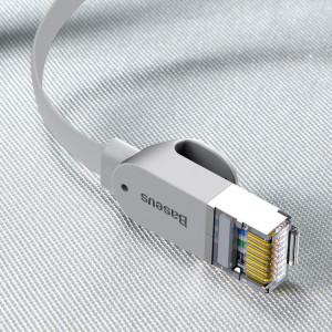 Cablu Ethernet plat Baseus High Speed, Ethernet RJ45, Gigabit, Cat.6, 0,5m (gri)