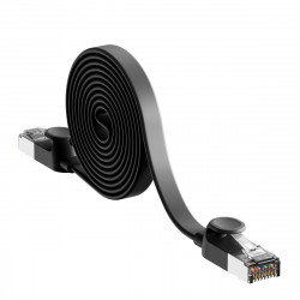 Cablu Ethernet plat Baseus High Speed, Ethernet RJ45, Gigabit, Cat.6, 8m (negru)