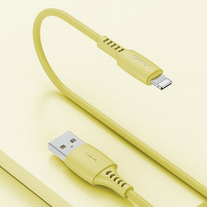 Cablu Lightning USB Baseus Colourful 1.2m 2.4A (galben)