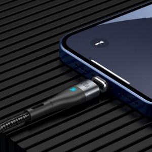 Cablu magnetic USB-C - Lightning Baseus Zinc 20W 2m (negru)