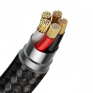 Cablu magnetic USB - USB-C Baseus Zinc 3A 1m (negru)
