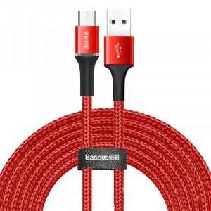 Cablu micro USB cu iluminare LED Baseus Halo 2A 3m (rosu)