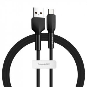 Cablu USB-C Baseus Silica Gel, 3A, 1m (negru)
