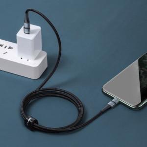 Cablu USB-C - Lightning Baseus BMX Double-deck, MFi, Power Delivery, 18W, 1,2m (negru-gri)