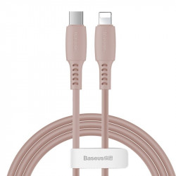 Cablu USB-C - Lightning Baseus Colourful, PD, 18W, 1.2m (roz)