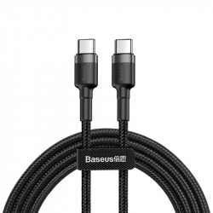 Cablu USB-C PD Baseus Cafule PD 2.0 QC 3.0 60W 1m (negru-gri)
