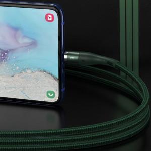 Cablu USB la Micro USB, magnetic Baseus Zinc 2.1A 1m (verde)