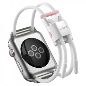 Curea Baseus Let's Go pt AppleWatch 3/4/5 42 mm / 44 mm (alb-roz)