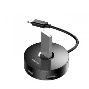 Hub 4in1 USB-C la USB 3.0 + 3x USB 2.0 Baseus 15cm (negru)