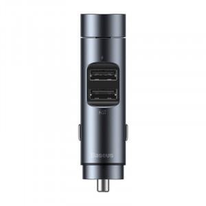Modulator FM cu incarcator Baseus Energy Column, 5V, 3.1A (gri)