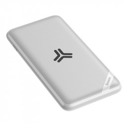 Powerbank Baseus S10 cu incarcare wireless, 10000mAh, 18W, USB (alb)