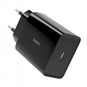 Set incarcatoare USB-C PD Baseus Mini, Power Delivery 18W cu cablu USB-C - Lightning 1m (negru) 5 buc