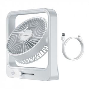 Ventilator portabil Baseus Cube (alb)