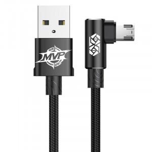 Cablu 90 grade micro USB Baseus MVP Elbow 1.5A 2m (negru)