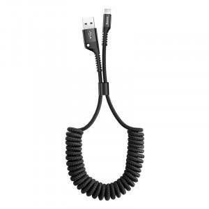 Cablu flexibil Lightning Baseus Spring 1m 2A (negru)