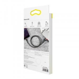 Cablu Lightning USB Baseus Cafule 1,5A 2m (negru-rosu)