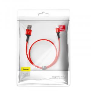 Cablu micro USB cu iluminare LED Baseus Halo 3A 0,25m (rosu)