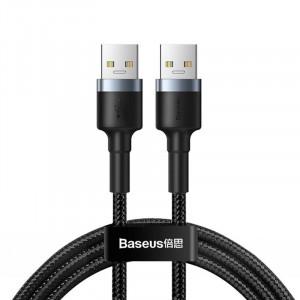 Cablu USB 3.0 A-A Baseus Cafule, 2A, 1m (negru-gri)
