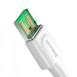 Cablu USB-C Baseus White Series, VOOC, QC, 5A, 1m (alb)