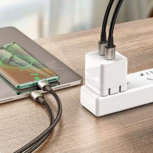 Cablu USB-C la USB-C, magnetic Baseus Zinc 5A 1.2m (negru)
