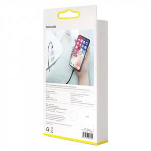 Cablu USB-C - Lightning PD Baseus Cafule, 18W, 1m (negru-gri)