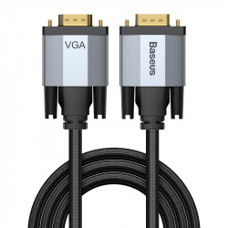 Cablu VGA Baseus Enjoyment Series, bidirectinal, FullHD, 2m (gri)