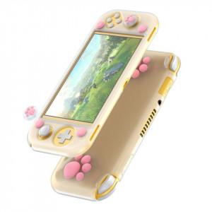 Husa silicon Baseus GS06L pt Nintendo Switch Lite + joystick pad silicon (alb-roz)