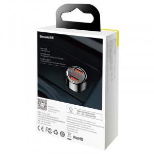 Incarcator auto Baseus Magic 2x USB QC 3.0 45W (negru)
