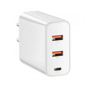 Incarcator retea USB Baseus PPS 2xUSB QC + USB-C PD 60W (alb)