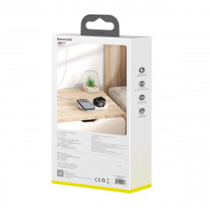 Incarcator wireless 2in1 Baseus Planet, telefon + Apple Watch, 24W (alb)