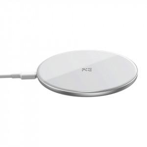 Incarcator wireless Baseus Simple, 15W (alb)