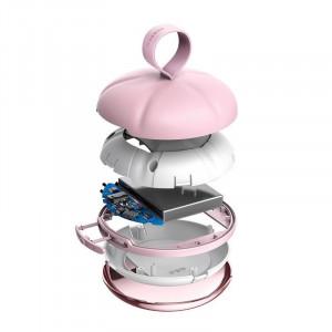 Powerbank cu functie de incalzire a mainilor Baseus Spongebob (roz)