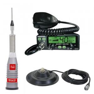 Promotie statie radio CB President Barry II + antena Storm ML 170 Silver + baza 145